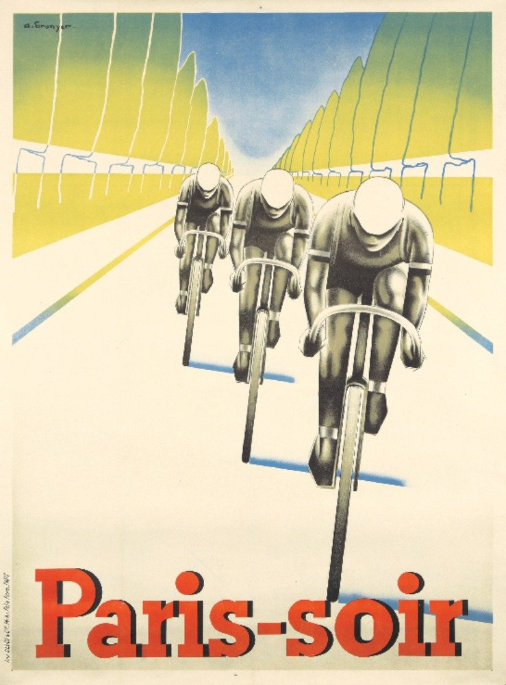 paris-soirヴィンテージポスター(アーティスト: Brunyer )フランスC。1930 36 x 54 Giclee Print LANT-72826-36x54 36 x 54 Giclee Print  B01MQ06FFP