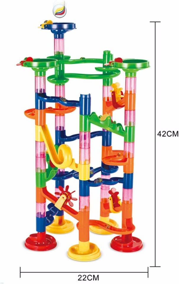 Camouflage jieGorge DIY Marble Run Coaster Maze Toy Hanmun DIY Marble Race Toy 74 Piece Toys and Hobbies