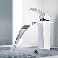 BONADE Waterval kraan chroom eengreeps wastafelarmaturen badkamer armatuur voor badkamer wastafel
