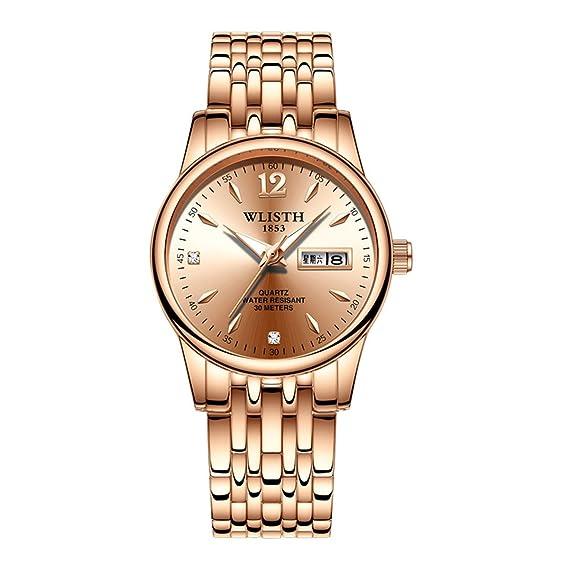 LONGQI - Reloj luminoso para mujer, con números arábigos informales