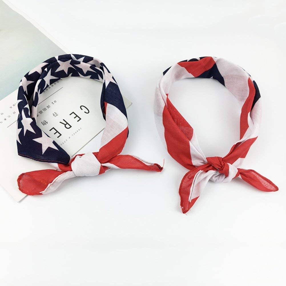 BinaryABC 4th of July American Flag Bandana Headband,Patriotic Headband,Independence Day Fourth of July Decorations
