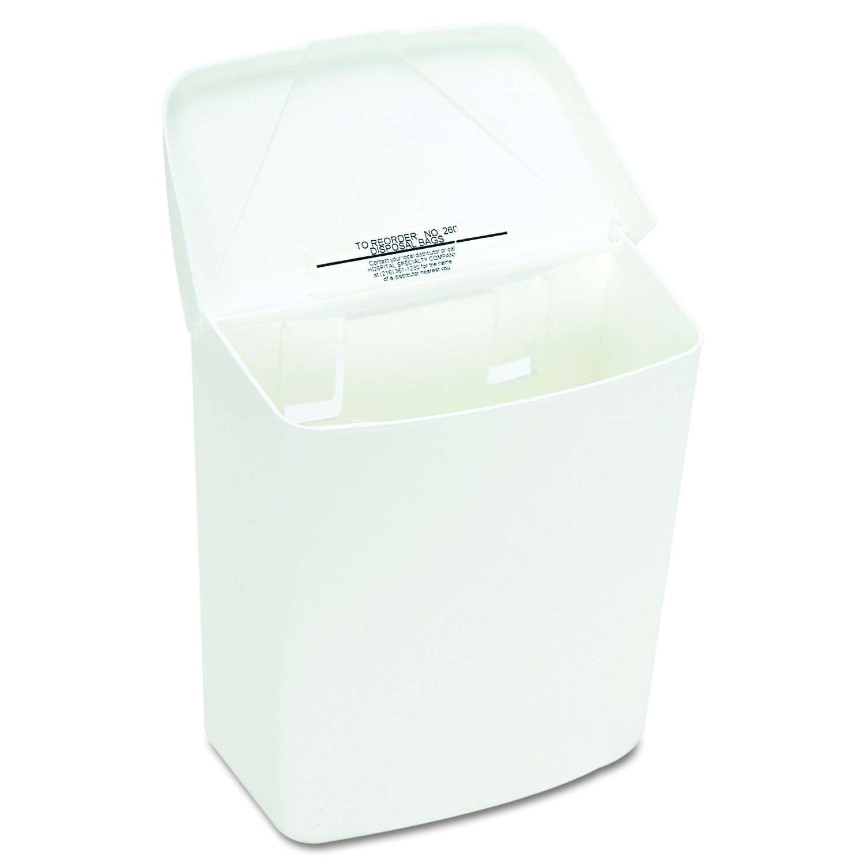 Hospeco Feminine Hygiene Receptacle, White ABS Plastic, 250-201W by Hospeco (Image #5)