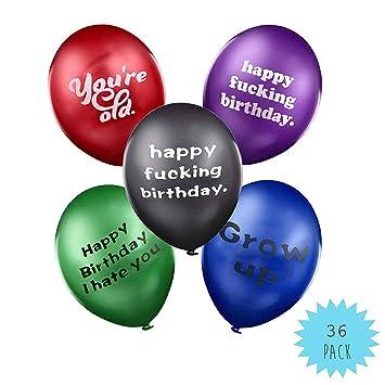 SHI WU Globos de cumpleaños - Paquete de 36 Ideas Divertidas ...