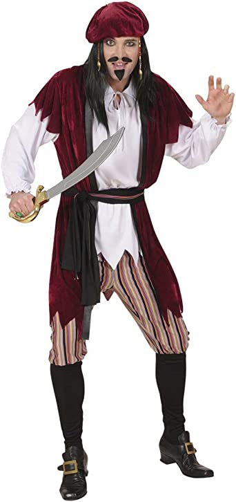 Adults Mens Caribbean Pirate Man Costume Jamaican Tropical Fancy Dress