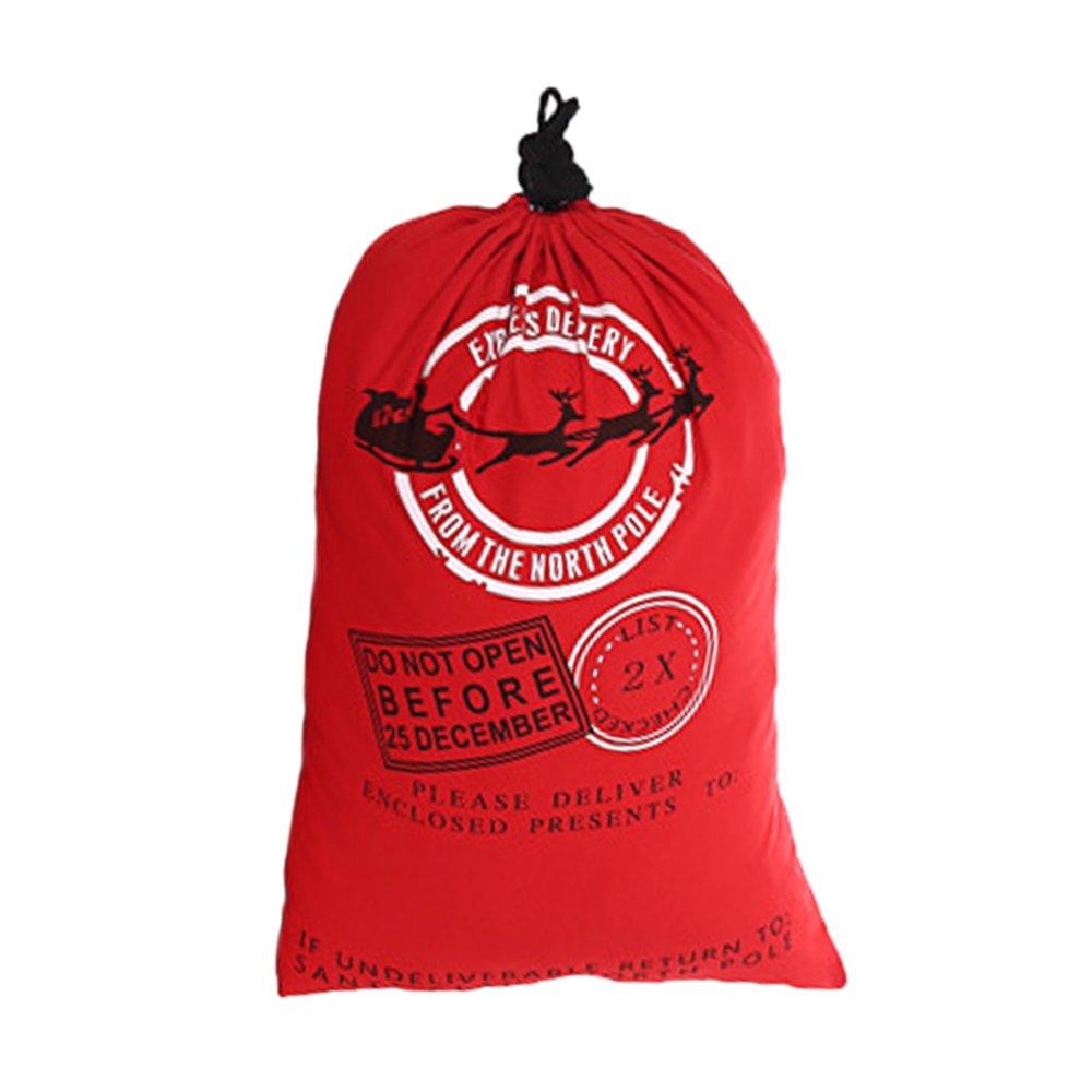Aspire卸売業クリスマスジャイアントキャンバス巾着袋再利用可能な食料品の買い物袋ギフトストレージ - Red - 120 PCS   B07281MQHD