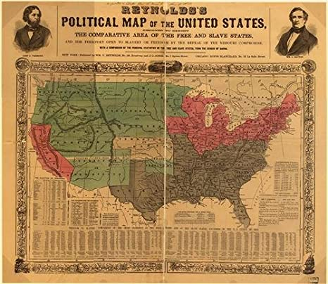 Worksheet. Amazoncom 1850 POLITICAL MAP OF THE USA GLOSSY POSTER PICTURE