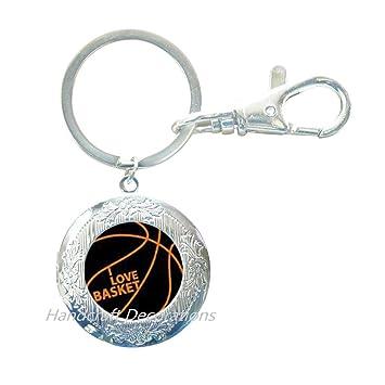 Llavero con medallón de baloncesto - Llavero con medallón ...