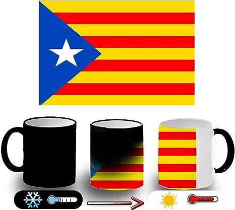 MERCHANDMANIA Taza Magica Bandera CATALUÑA Independencia Magic mug: Amazon.es: Deportes y aire libre