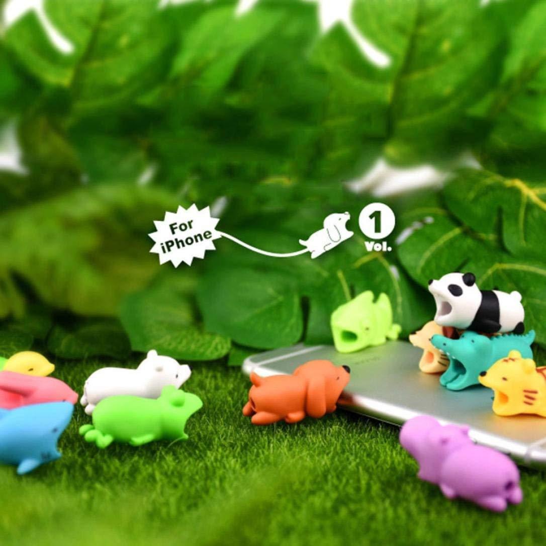 Pour d/écoration et protection de c/âbles /Évite la casse des c/âbles de t/él/éphone mobile Ensemble de 9 animaux d/écoratifs HaoCH
