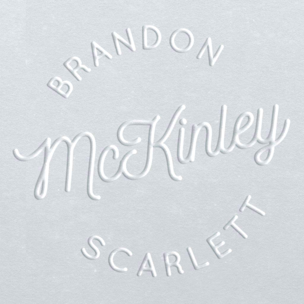 Circular Embosser | Monogram Embosser | Custom Embosser | Customizable Embosser | Return Address Embosser | Custom Seal | Personalized Embosser | McKinley Names