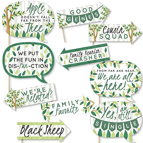 Funny Family Tree Reunion - Family Gathering Party Photo Booth Props Kit - 10 Piece]()