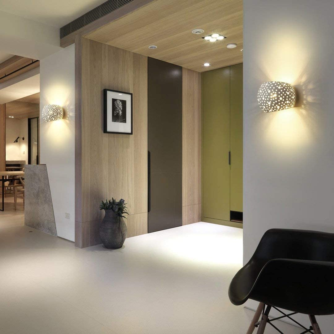 Modern Wall Lamp Up Lighter Sconce With 7w Led G9 Cap Type Natural Environmental Protection Gypsum Material Wall Mounted Lights For Living Room Bedroom Lighting Ecog Wall Lighting Fixtures