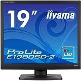 iiyama モニター ディスプレイ E1980SD-B2 (19インチ/スクエア(SXGA)/TN/D-sub,DVI-D/3年保証/ブラック)