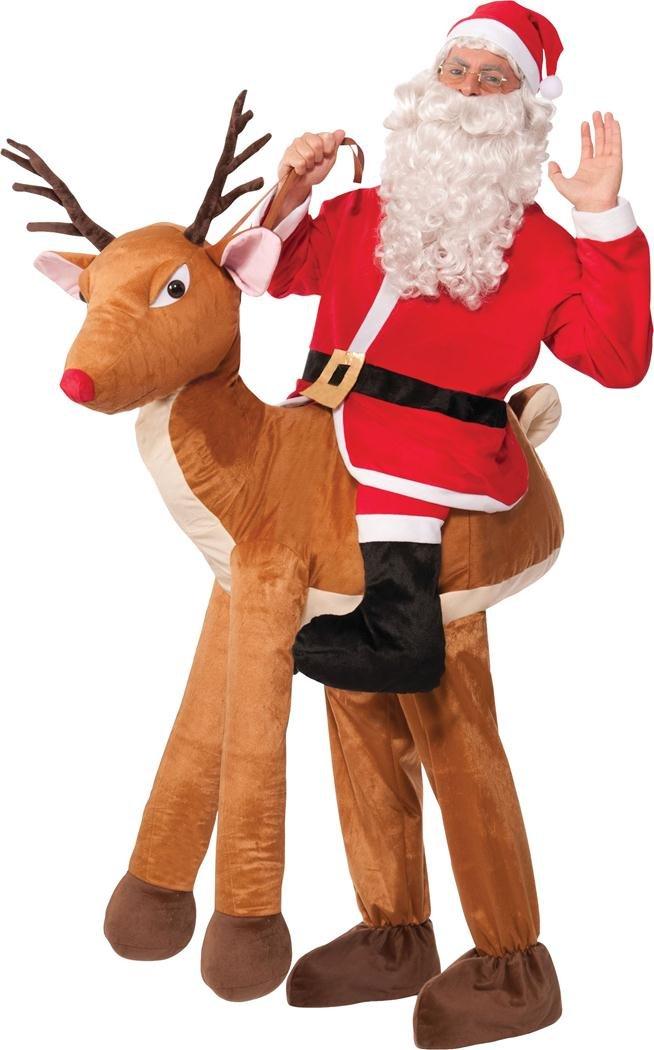 Unisex Erwachsene Weihnachten ausgefallen Party Kleid Santa Reite A rodulph Rentier Outfit