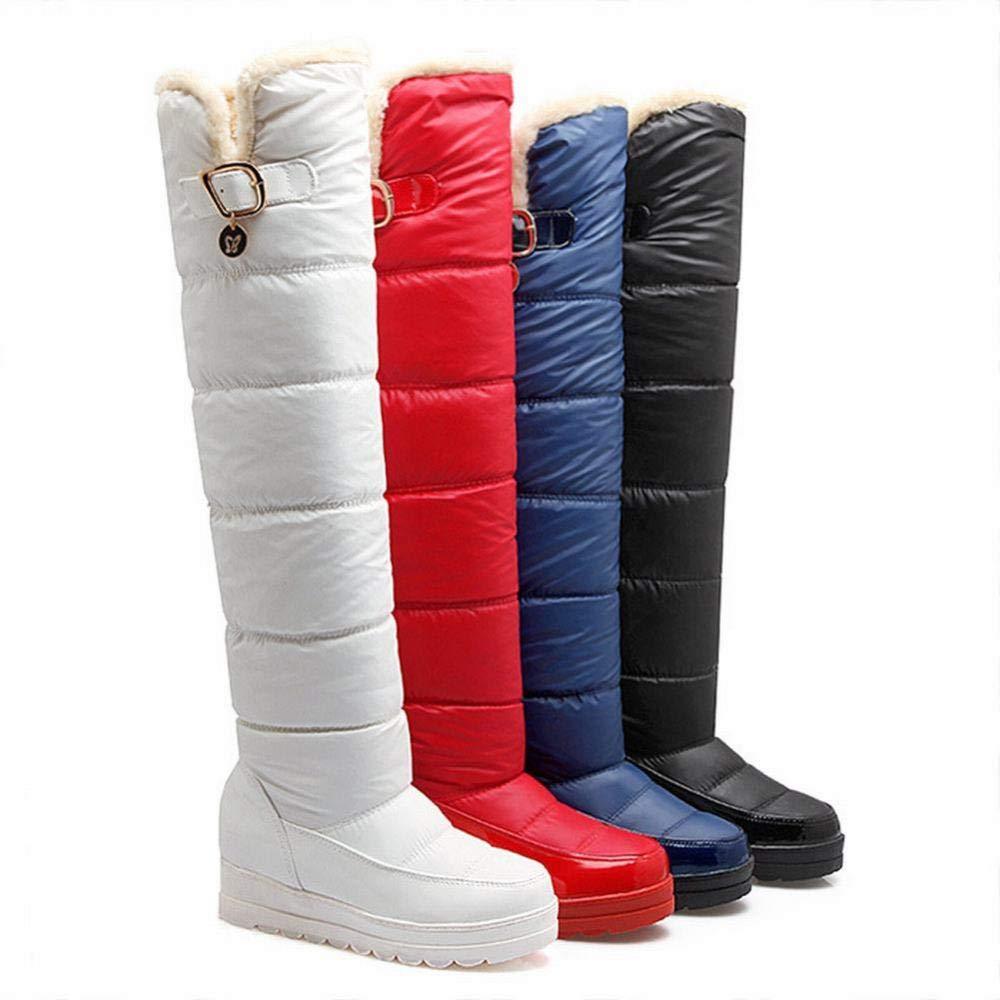 Damenstiefel - Winter Rutschfeste Warme Stiefel Warme Warme Warme Baumwollschuhe Hohe Daunenfeder Wasserdichte Rutschfeste Damen Schnee Stiefel -35-42 3a3c78