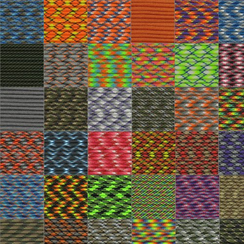 Paracord Hero 10' 20' 25' 50' 100' Hanks & 100' 300' Spools Parachute 550 Cord Type III 7 Strand Paracord Largest Paracord Selection