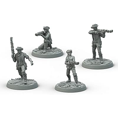 Modiphius Entertainment Fallout Wasteland Warfare Survivors Minutemen Posse Miniatures: Toys & Games