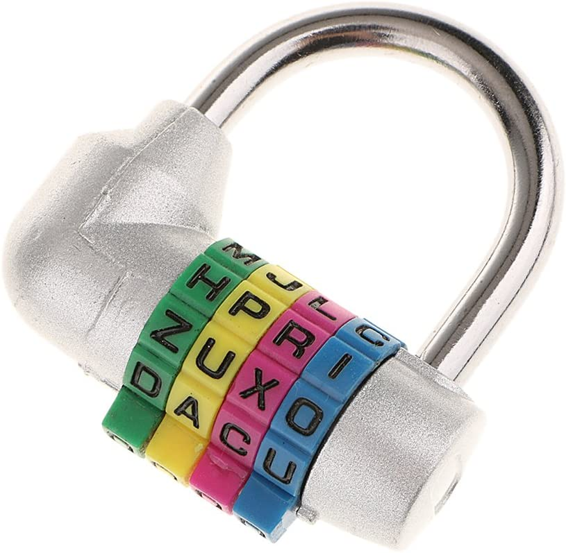 SDENSHI 4-Buchstaben-Kombinationsschloss Buchstabenschloss Vorh/ängeschloss Combination Lock Kofferschloss Reiseschloss Schwarz