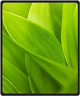 Doubee personalizzato morbido caldi Fresh leaves 100% coperta da picnic in pile festival all' aperto 127cm x 152cm, Pile, E, 50' x 60'