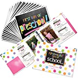 School Memory Book Keepsake Album for Kids Memories with Pockets Every Grade Bundle with First Day and Last Day of School Signs Photo Prop (Preschool-College)