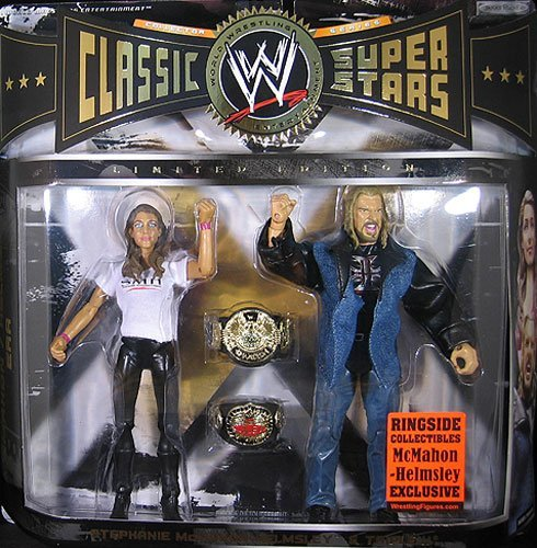 TRIPLE H & STEPHANIE MCMAHON CLASSIC SUPERSTARS ELITE EXCLUSIVE 2-PACK WWE TOY WRESTLING ACTION FIGURES
