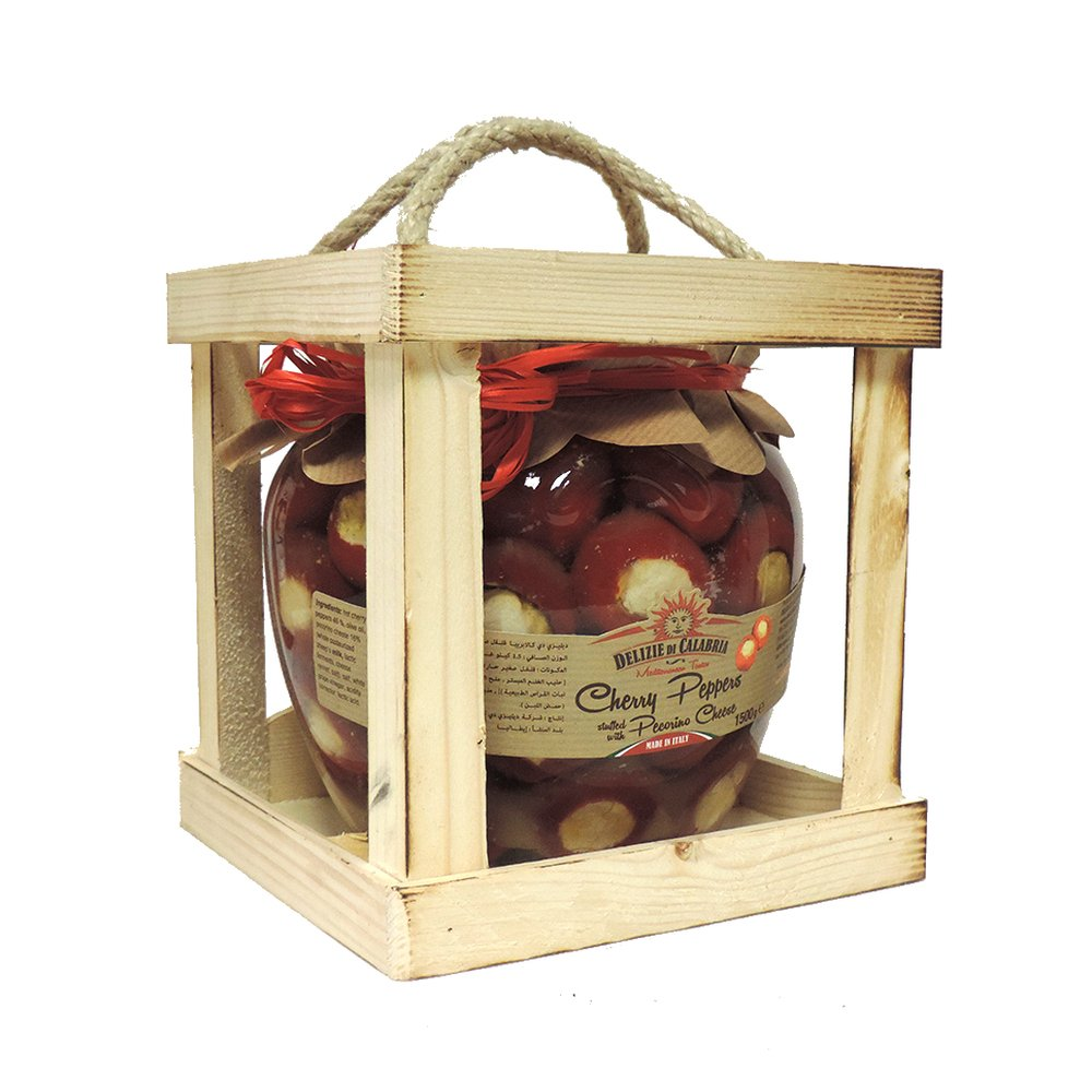 Delizie Di Calabria - Cherry Peppers Stuffed with Pecorino Cheese - 1.5kg (Case of 6)