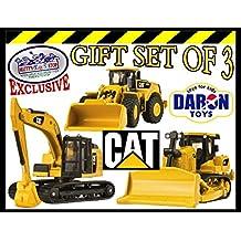 [Patrocinado] Daron Cat (Caterpillar) metal máquinas Bulldozer, Wheel Loader & excavadora Vehículos Camiones Deluxe Set de regalo
