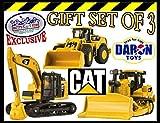 Daron CAT (Caterpillar) Metal Machines Bulldozer, Wheel Loader & Excavator Vehicles Trucks Deluxe Gift Set
