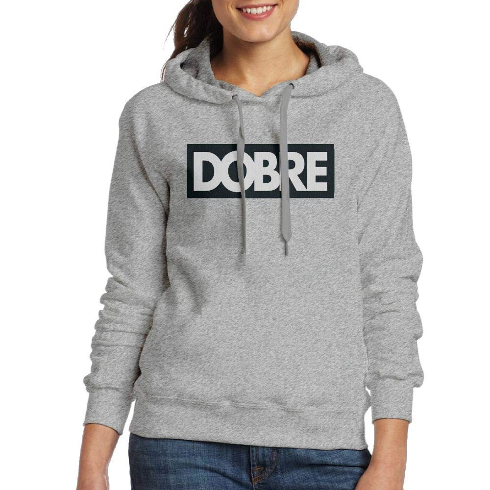 Erin Forman Womens Popular Celebrity Hooded Sweater Dobre Logo Ash
