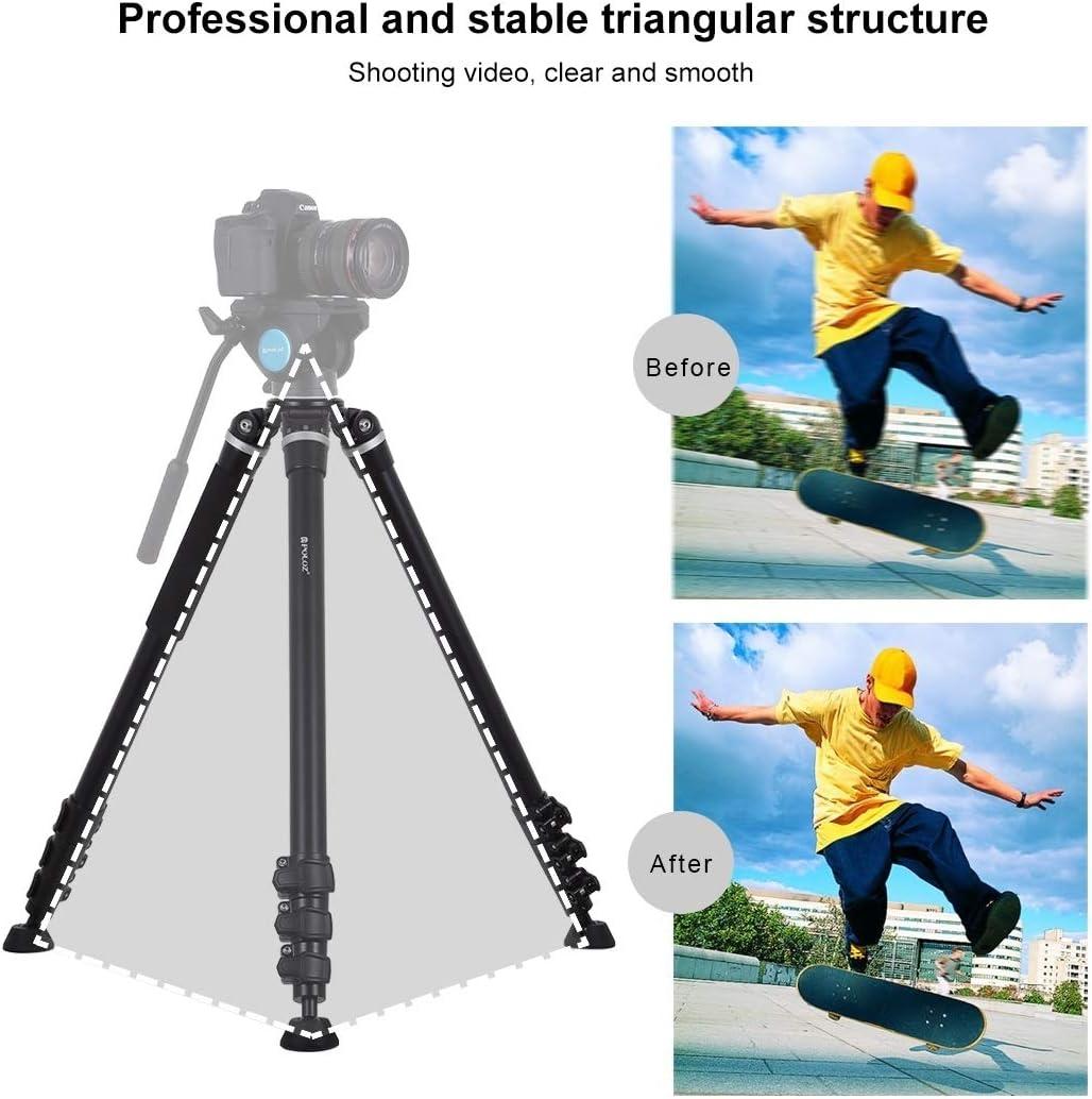 Asm 4-Section Folding Legs Metal Tripod Mount for DSLR//SLR Camera Adjustable Height 97-180cm YAM