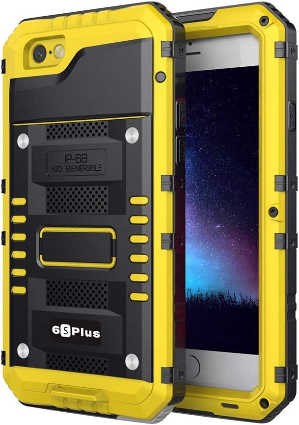 Beeasy Coque iPhone 6 Plus/ 6S Plus Antichoc Étanche,Robuste Qualité Militaire Résistant Metal IP68 d'Armure Antipoussière Anti Pluie Neige Étui ...