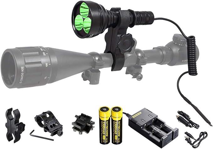 Orion M30C 377 Yards 700 Lumen Red or Green Long Range LED Hog Predator Varmint Hunting Light Flashlight Kit - Premium Pick