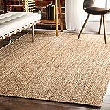 nuLOOM Natural Hand Woven Rigo Jute rug Area Rug, 6' x 9'
