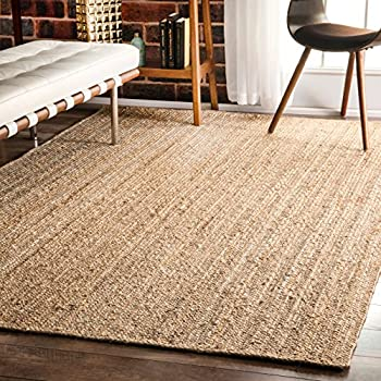 natural straw rugs amazoncom nuloom elijah seagrass with border area rug beige 8