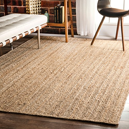 nuLOOM Natural Hand Woven Rigo Jute rug Area Rug, 6' x 9' by nuLOOM