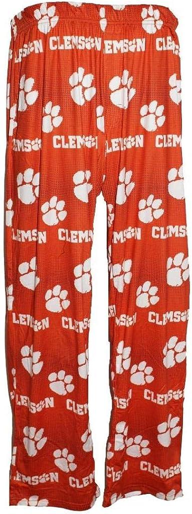 Clemson Tigers Men's Scatter Pattern Pajama Lounge Multi Color Pants