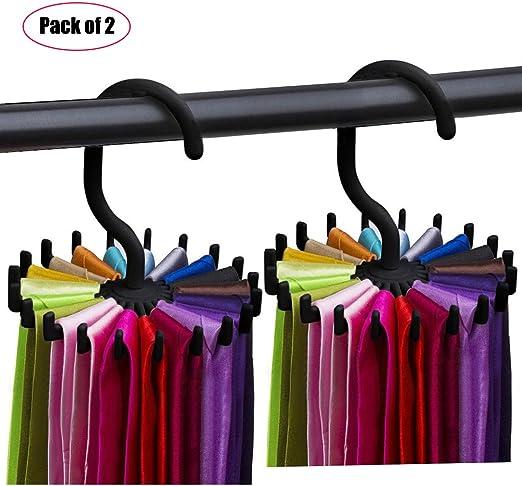 Mens Twirl a Tie Closet Rail Organizer Clothing Holder Hanger Spins 360 Degrees