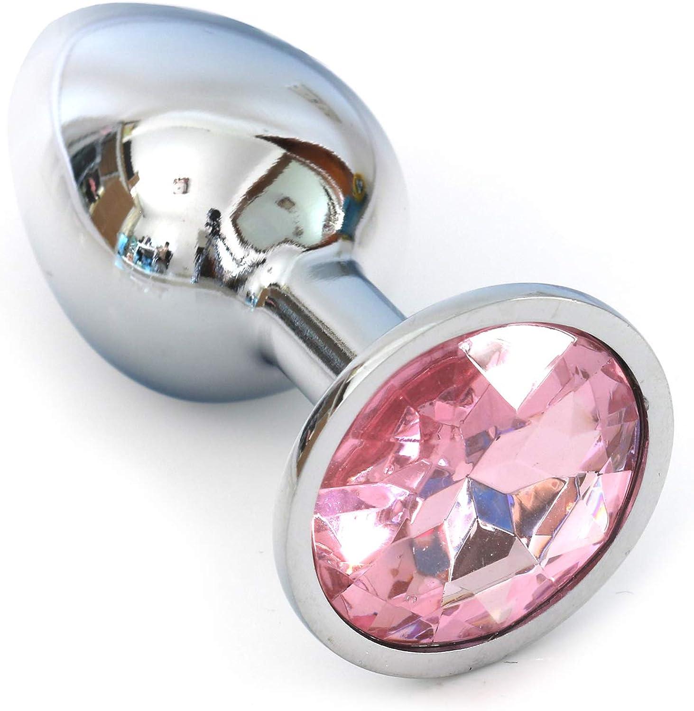 Bloomytree Crystal Stainless Steel B/ûtt Plug Beads Jeweled Back