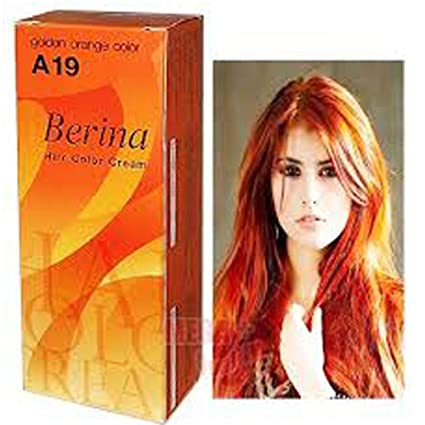 Amazon.com: Berina Permanent Hair Dye Color Cream # A19 Golden ...