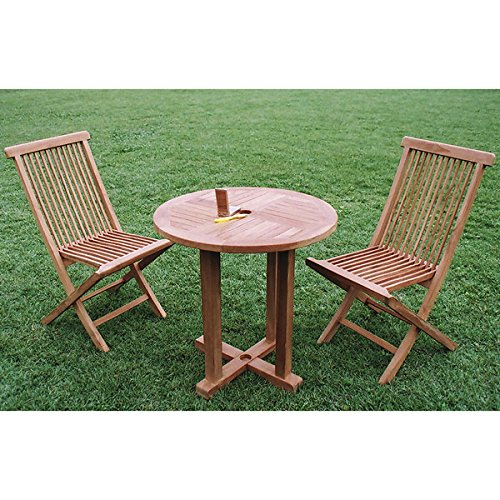 チークの丸テーブル0808直径80cm[高耐久性ガーデンテーブル] ノーブランド品 B07BBWPWW1