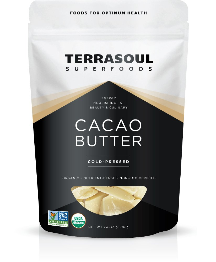 Terrasoul Superfoods Organic Cacao Butter, 1.5 Pounds (Raw, Keto, Vegan Friendly)
