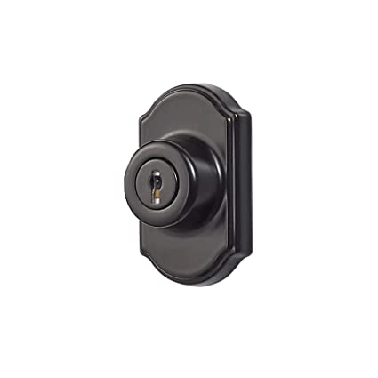 Ideal Security Inc  SK703BL DX Keyed Deadbolt for Storm and Screen Doors  Easy to Install, Black