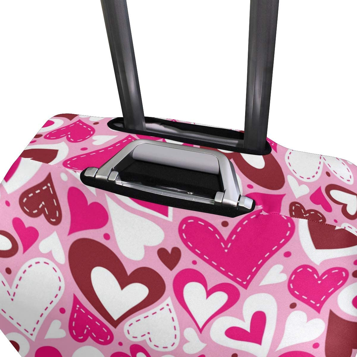 Blue Viper Hearts Valentine Day Pattern Luggage Protective Cover Suitcase Protector Fits 22-24 Inch Luggage