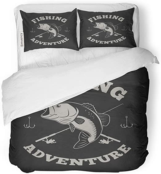 Bass Fish fishing Pillow Cases 36*20 size Two Side Print