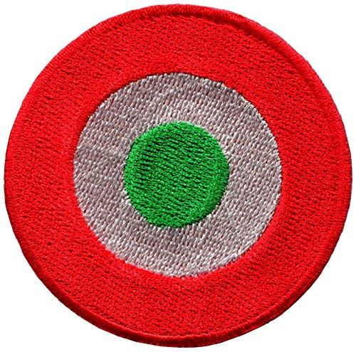- Bullseye dartboard darts archery bow arrow retro embroidered applique iron-on patch new