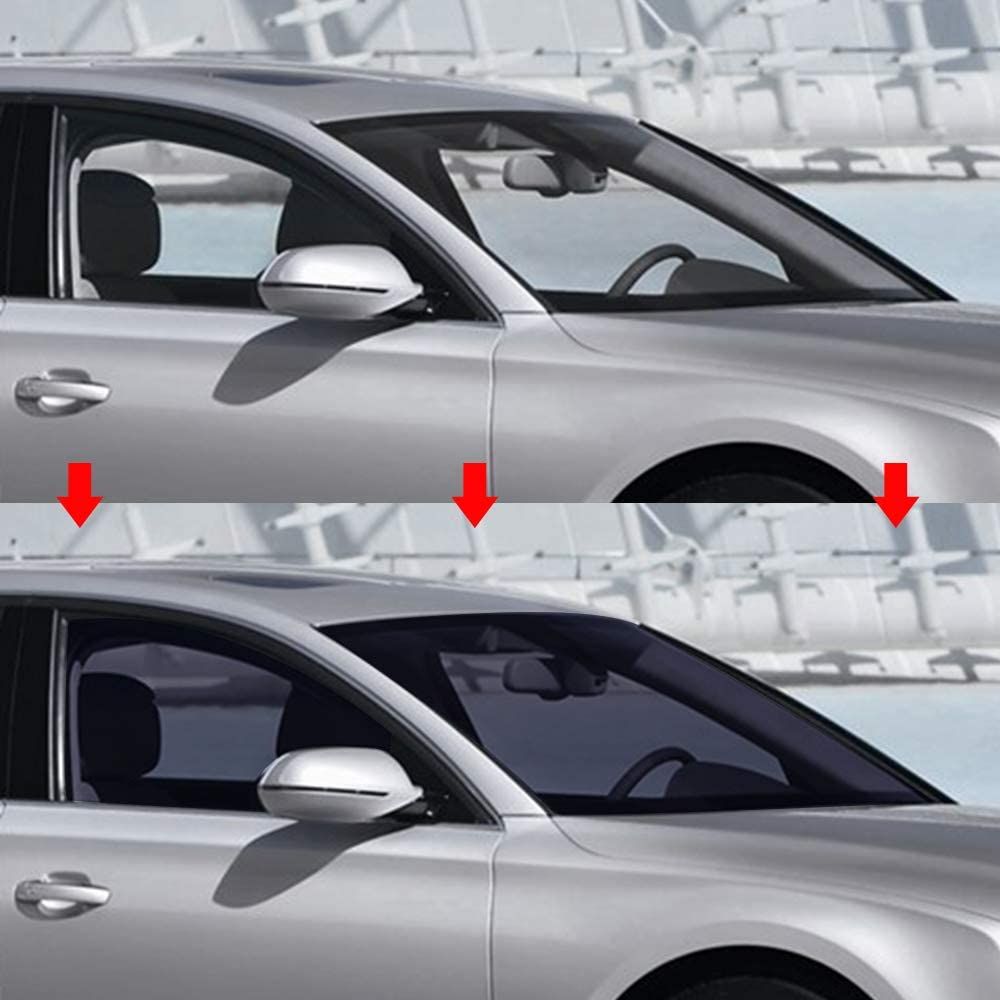 perfk Black Stable 15/% VLT Automotive Car Window Tint Film Roll Universal 50x100cm