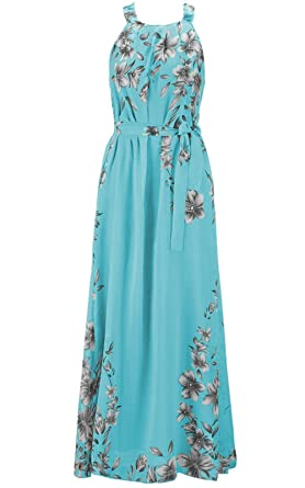 Ladies Floral Summer Chiffon Dresses Boho Evening Dress Cocktail Party Ball Gown Maxi Dresses Womens Long