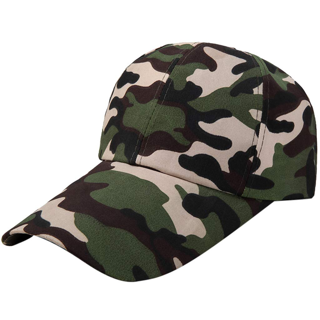Quaanti Camouflage Baseball Cap Men Special Tactical Baseball Hat Boys Snapback Trucker Cap Classic Plain Work Sports Caps (A)