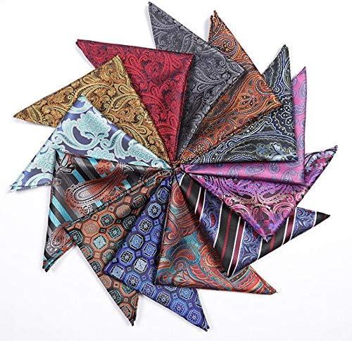 25x25cm 1# BIGBOBA Herren Taschent/ücher Araber Muster Einstecktuch Polyester Stecktuch Anzug Taschent/ücher