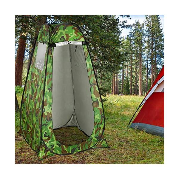 61 cK8%2BbpfL Relaxdays Duschzelt, Pop Up Stehzelt für Camping, Garten & Outdoor, Umkleide- & WC-Zelt, 200 x 120 x 120 cm, Camouflage